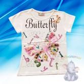 "Футболка ""Butterfly"", 1-2, 3-4, 5-6, 7-8 лет"