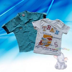 Рубашка + футболка, 1-4 года